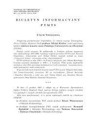 nr 1/2008 - Polskie Towarzystwo Mechaniki Teoretycznej i Stosowanej