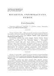 nr 3/2007 - Polskie Towarzystwo Mechaniki Teoretycznej i Stosowanej