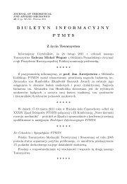 nr 2/2011 - Polskie Towarzystwo Mechaniki Teoretycznej i Stosowanej