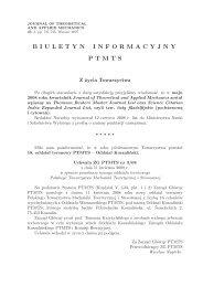 nr 3/2008 - Polskie Towarzystwo Mechaniki Teoretycznej i Stosowanej