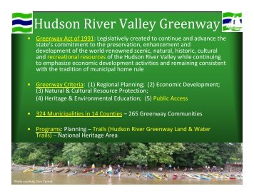 Hudson River Valley Greenway - Parks & Trails New York