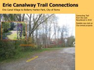 Erie Canalway Trail Connections - Parks & Trails New York