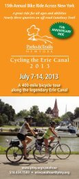 Cycling the Erie Canal 2013 - Parks & Trails New York