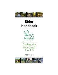 Rider Handbook CTEC 2013 - Parks & Trails New York