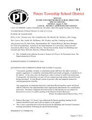 8/27/12 Special Meeting - Peters Township School District