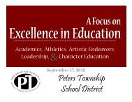 September 17, 2012 - Peters Township School District