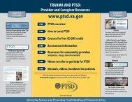 Trauma and PTSD: Provider and Caregiver Resources