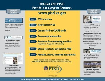 Trauma and PTSD: Provider and Caregiver Resources