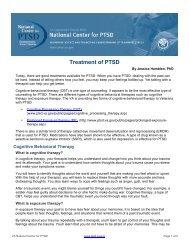 Treatment of PTSD - National Center for PTSD