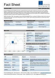 Factsheet - Deutsche Beteiligungs AG