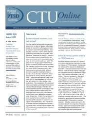 CTU-Online - National Center for PTSD - US Department of ...