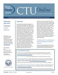 CTU-Online 6(2) - National Center for PTSD - US Department of ...