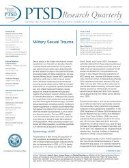 Military Sexual Trauma - National Center for PTSD - US Department ...