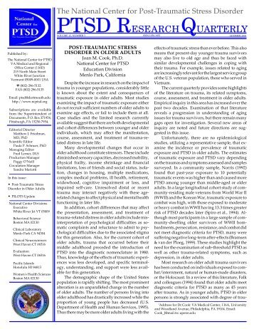 Post-traumatic Stress Disorder in Older Adults - National Center for ...
