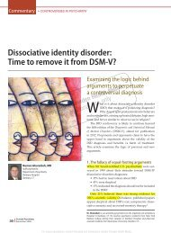 Dissociative identity disorder: Time to remove it from DSM-V ...