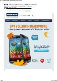 RAZR i mit randlosem Display und Intel-Atom-Prozessor - Android ...