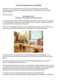 Forum für Psychiatrie am 22. April 2009 - Psychosozialer ...