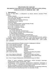 Sprawozdanie Zarządu PTWK z działalności w okresie 2004-2007 r.