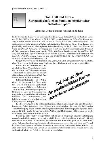 volltextpublikation als pdf-datei - Politik Unterricht Aktuell