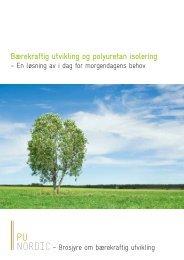 Bærekraftig utvikling og polyuretan isolering - PU-Europe ...