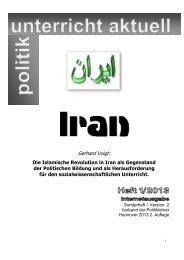 Die Islamische Revolution in Iran als Gegenstand der Politischen ...