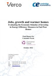 Jobs, growth and warmer homes - Evaluating the ... - PU Europe