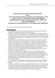 EIP comments on draft Ecodesign work programme 2011 - PU Europe