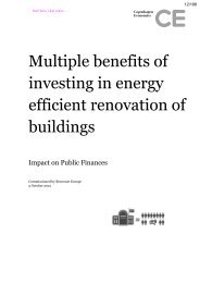Multiple benefits of renovation in buildings - PU Europe
