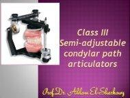 Class III adjustable condylar path articulators