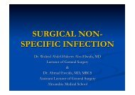 Specific surgical infections