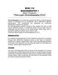 "BCM 112 BIOCHEMISTRY I ""Thin-Layer chromatography (TLC)"""