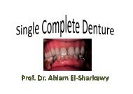 1- Maxillary single denture opposing natural teeth