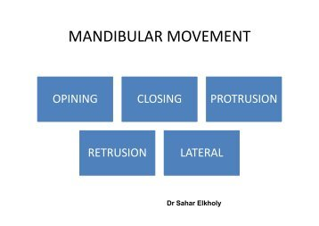 MANDIBULAR MOVEMENT
