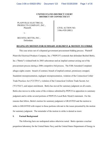 UNITED STATES DISTRICT COURT DISTRICT OF ... - PubKLaw