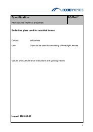 Specification - Docter® Optics