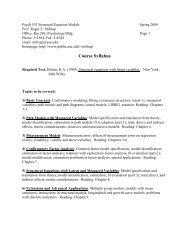 Psych 533 Structural Equation Models Spring 2005