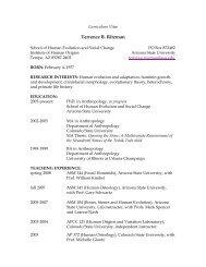 Curriculum Vitae - Arizona State University