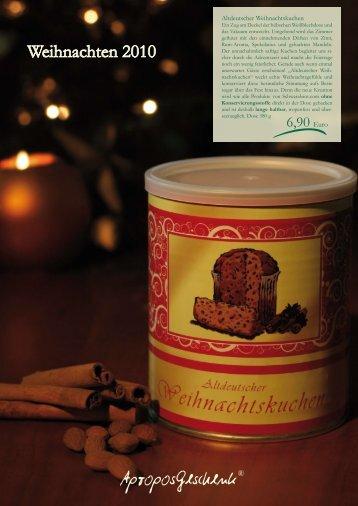 Weihnachten 2010 - Apropos Geschenk