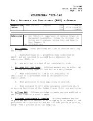 MILPERSMAN 7220-140, Basic Allowance for Subsistence - US Navy