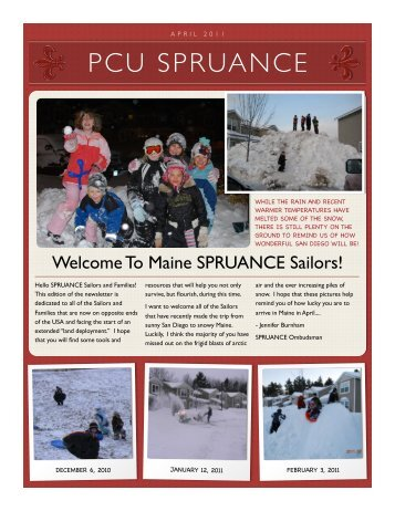 April SPRUANCE newsletter - US Navy