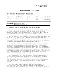 MILPERSMAN 1301-400 - US Navy