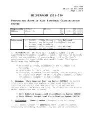 MILPERSMAN 1221-030