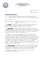 navmc dir 5100.8 marine corps occupational safety and ... - US Navy