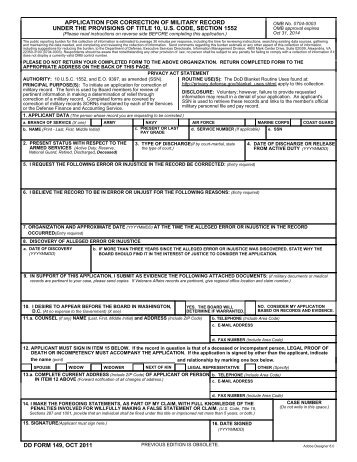 bcnr dd form 149 - united states marine corps wounded warrior