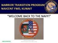 Warrior Transition Program (WTP) Information Brief - US Navy