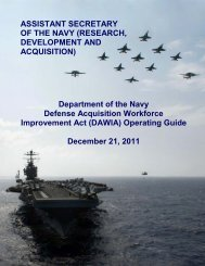 DAWIA Operating Guide - US Navy