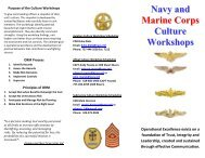 Navy and Marine Corps Culture Workshops - US Navy