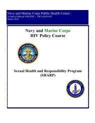 Microsoft Word - hivpolicy.doc - US Navy