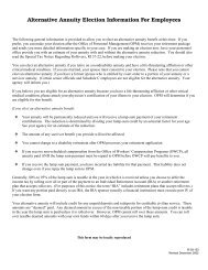 Alternative Annuity Election Information For Employees - US Navy
