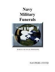 NAVPERS 15555D - Navy Military Funerals - US Navy